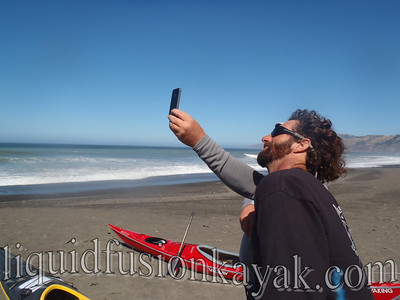 Checking wind speed w/Hawk's iphone.