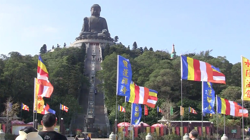 Go to Lantau Island visit big Buddha and monastery and return to hotel.