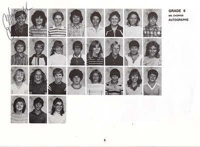 Jeff 6 grade class.  Third row, third from left.   Teacher is Mr. Chopper.