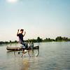 Jeff rides on water