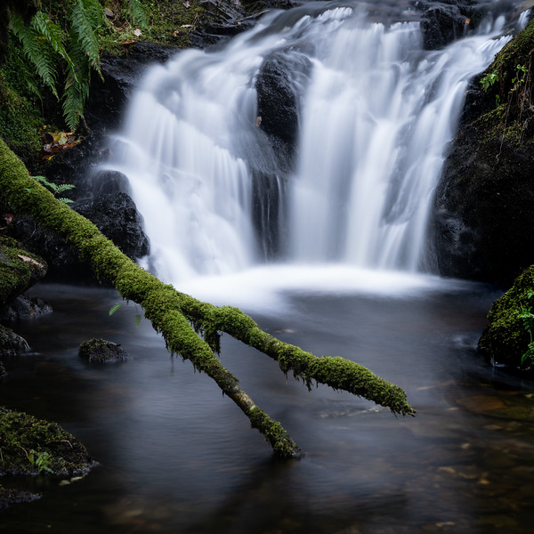 Roadside falls in Scotland