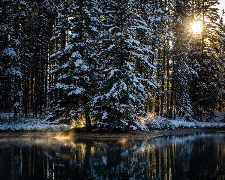 Morning light on Two Jack Lake, Banff, Canada