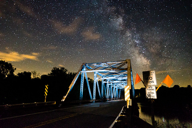 Lone Rock Bridge and the Milky Way