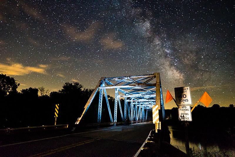 Lone Rock Bridge and the Milky Way