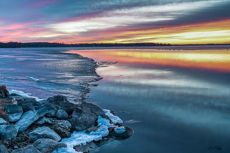 Lake Kegonsa Icy Sunrise