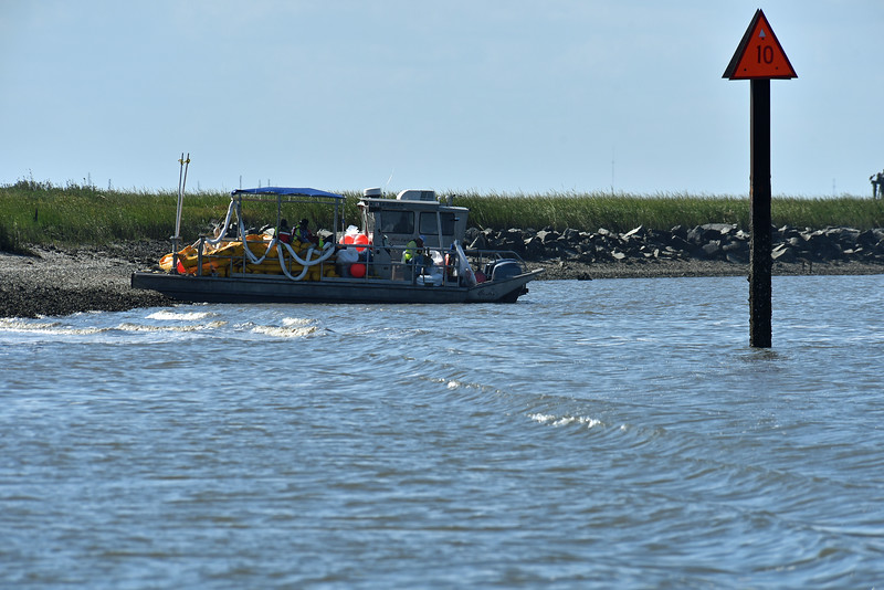 Golden Ray Disaster Scenes in St. Simons Sound on 09-29-19
