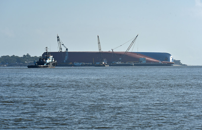 Golden Ray Disaster Scenes in St. Simons Sound Area on 10-03-19