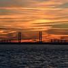 Jekyll Island Boat Tours - Sidney Lanier Bridge Sunset 11-29-18