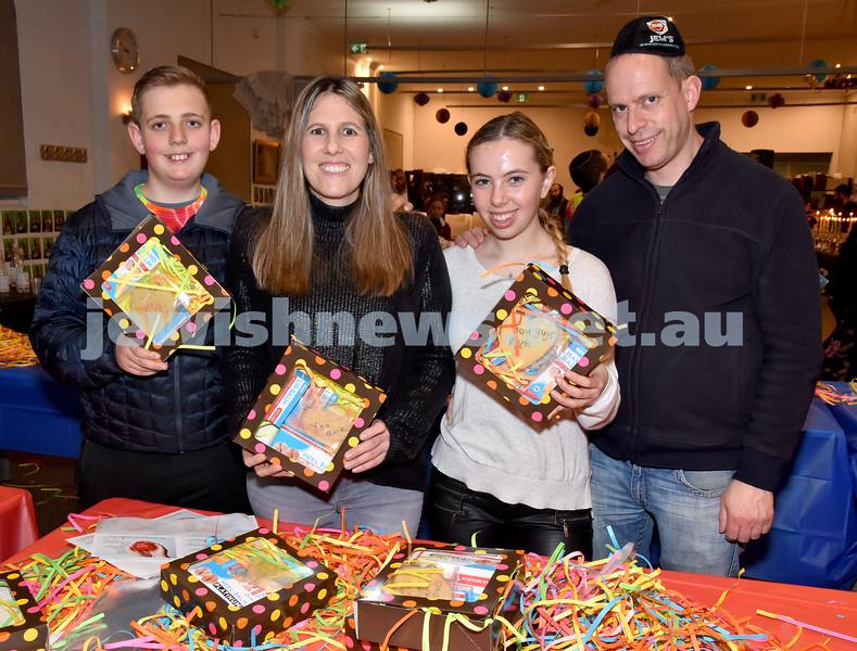 JEMS honouring volunteers. From left: Jordan, Jo, Sasha, Darryl Baskin. Pic Noel Kessel