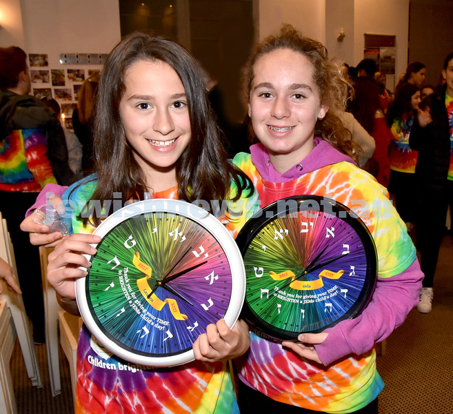 JEMS honouring volunteers. Lauren Fooks (left), Orla Kaldor. Pic Noel Kessel