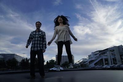 Jen & Matt and a Trampoline in Vegas...