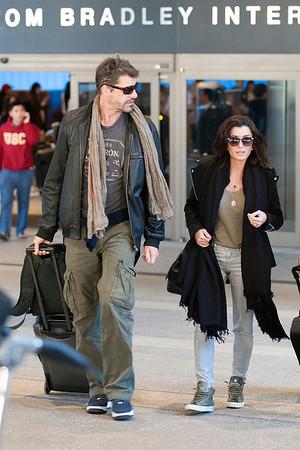 Jenifer Bartoli et Nicolas a Los Angeles Airport