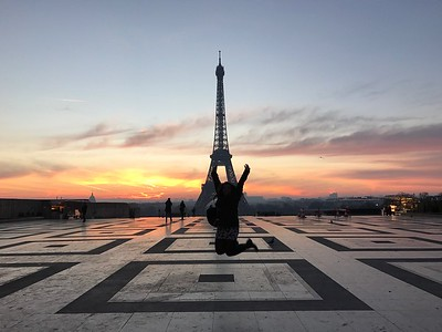 Jump Shot with Eiffel Tower
