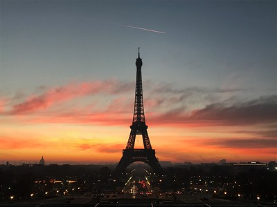 Sunrise and the Eiffel Tower