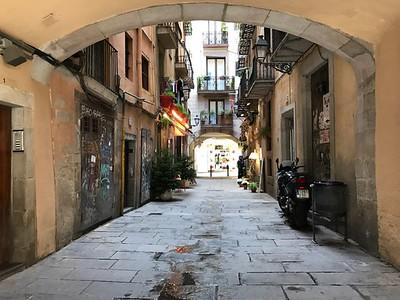 Alley in Barcelona