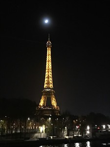 Moonlight over Eiffel Tower