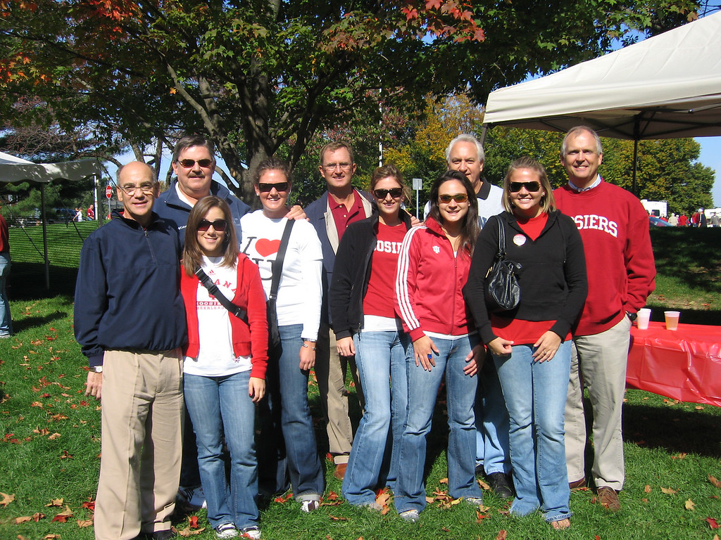 Dads and girls at tailgate