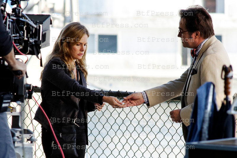 Jennifer Jason Leigh during the set of Revenge in Marina Del Rey, California.