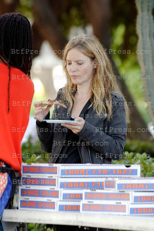 Jennifer Jason Leigh during the set of Revenge in Marina Del Rey, California.