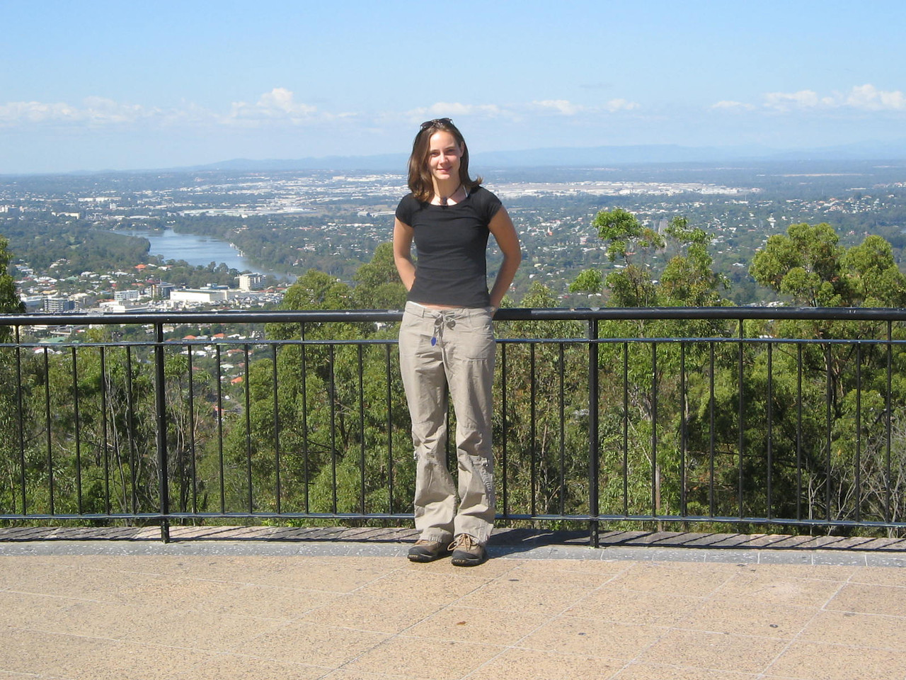 mt coot-tha overlooking brisbane