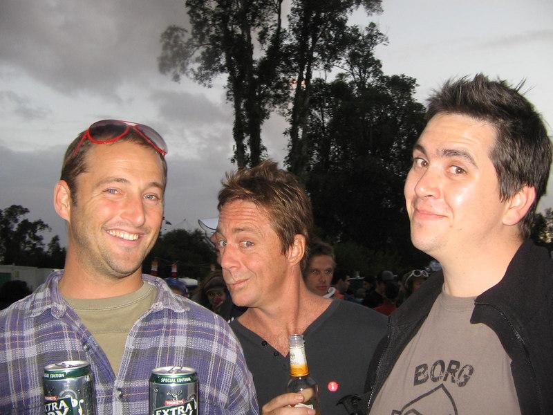q mic and john... (at splendour)