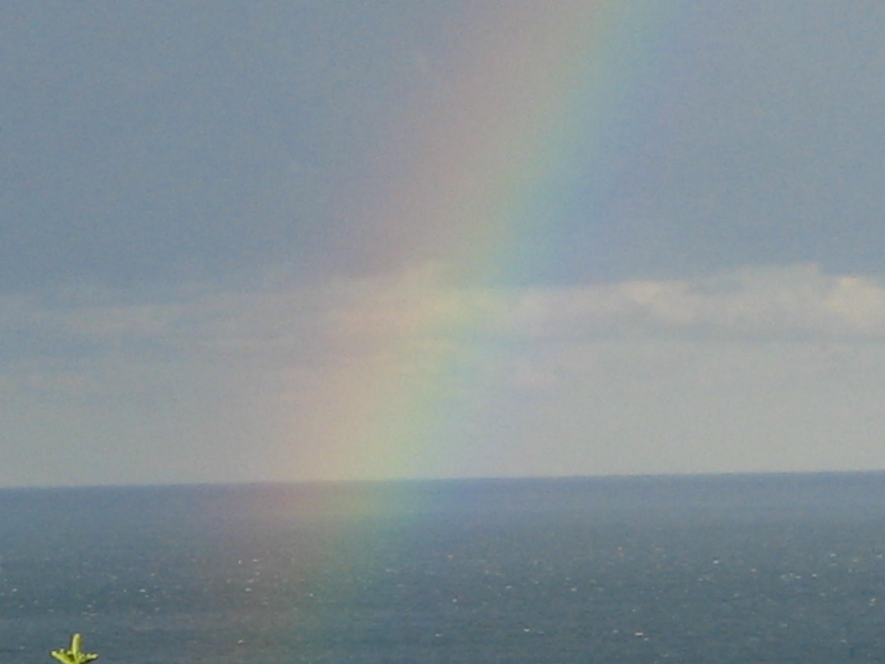 rainbow from our room at sunshine coast