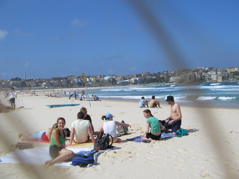bondi beach sandblasting my hair across the photo