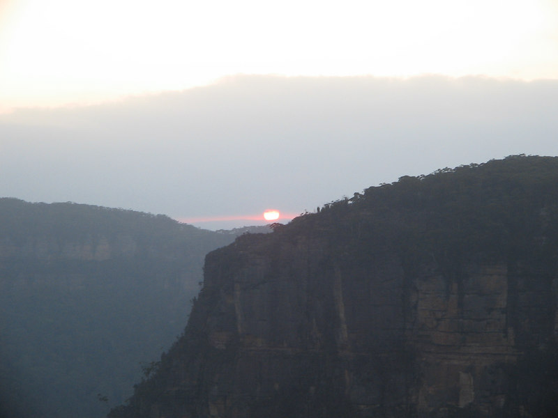 sunset blue mts