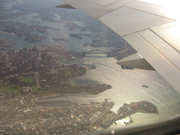 over sydney harbor