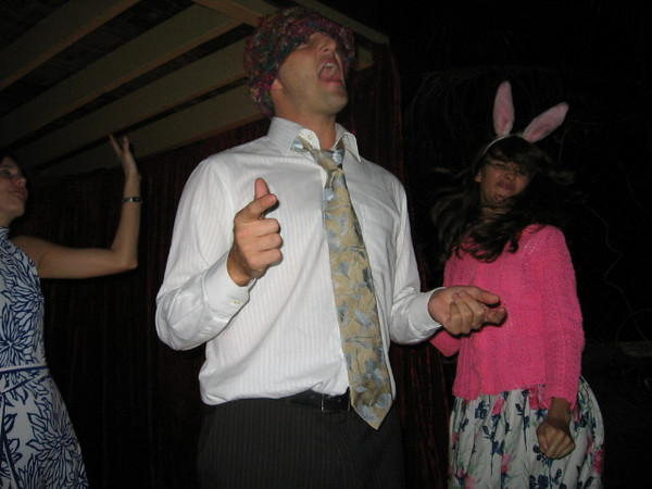ended up at a mad hatters party... long story that i dont remember much of, but im sure its good.