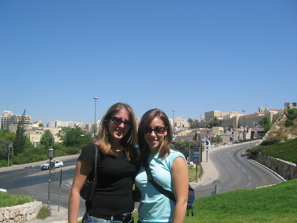 me and jamie after eating lunch in Jerusalem