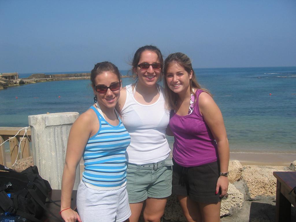 me, Annie, and Kate in Caesarea