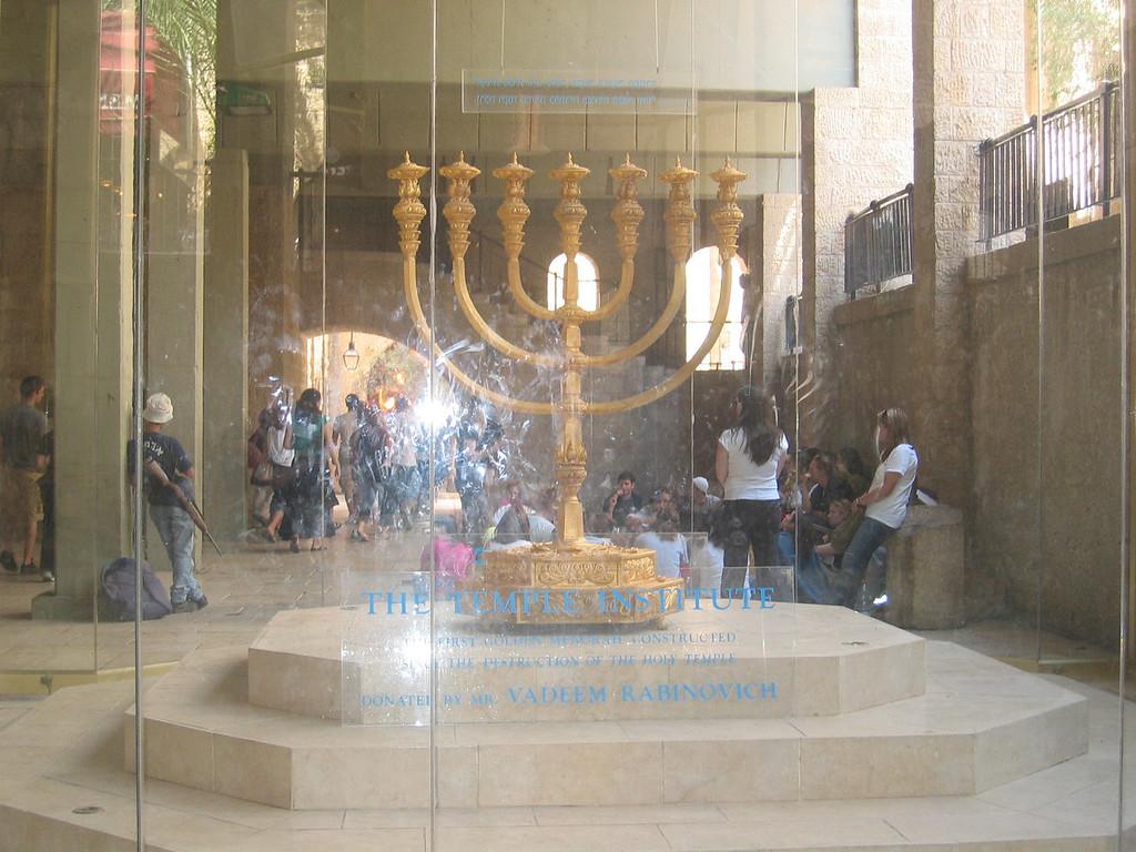 gold menorah