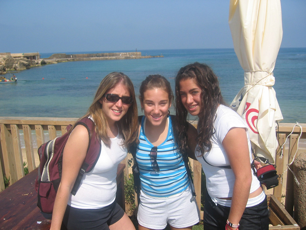 Jamie, me, and Tracy in Caesarea