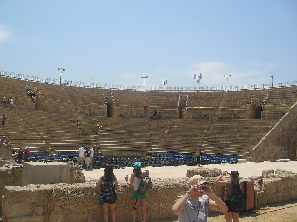 concerts used to be held here in Caesarea