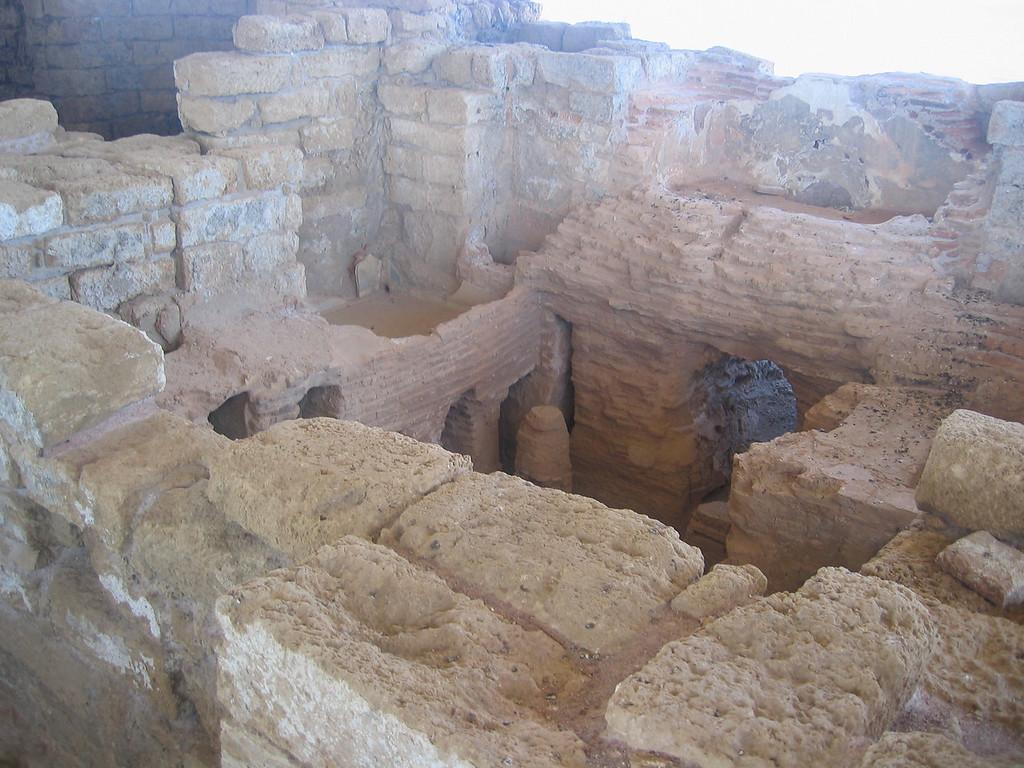 old bathrooms in Caesarea