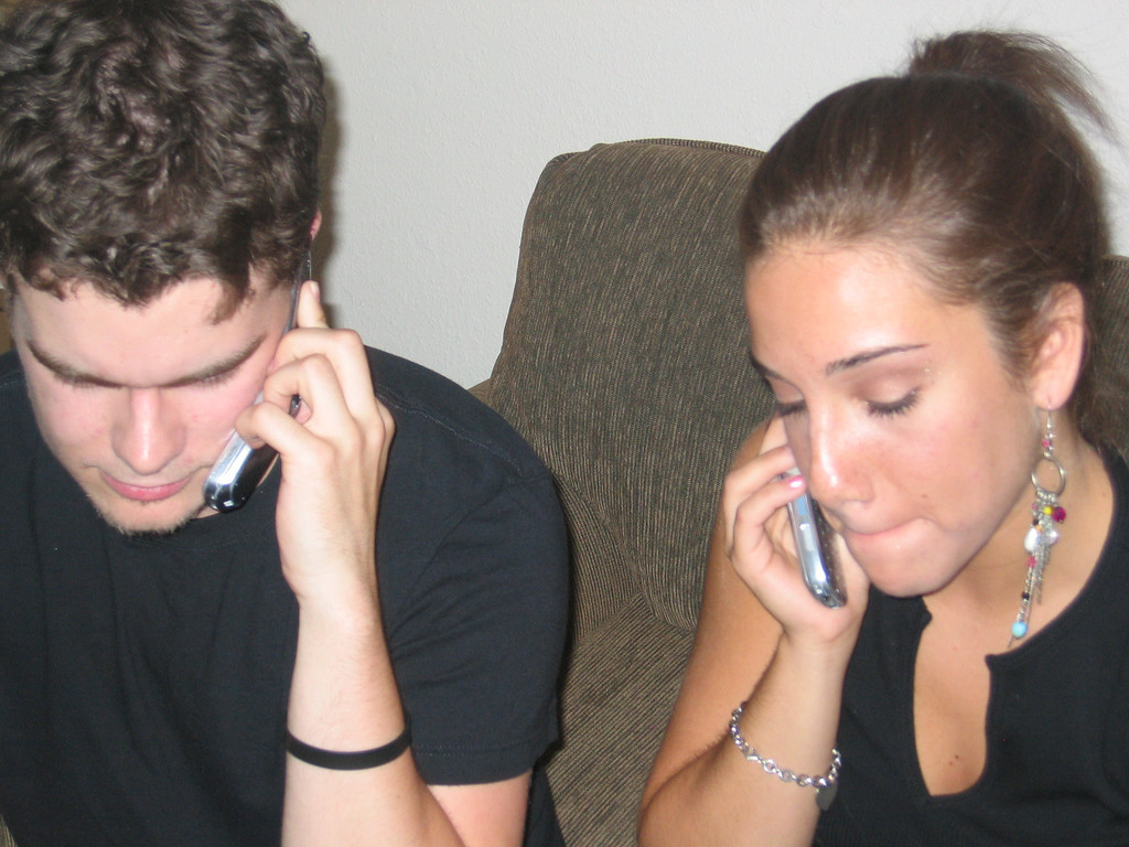 great pic... concentrating on our phone calls