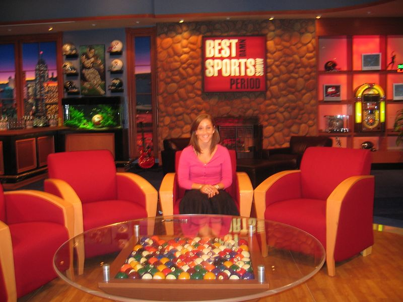 Me at the set of Best Damn Sports Show Period at Fox Sports!  I saw a taping!