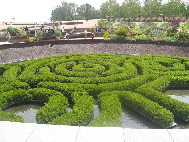 garden at the Getty Center