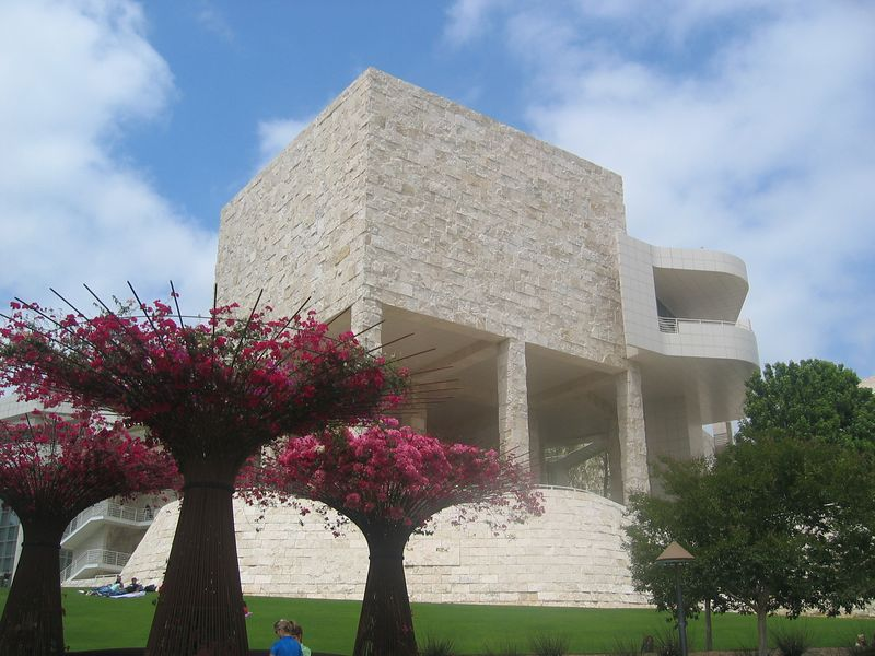 half of the museum at the Getty Center... doesn't it look like IU's Main Library?