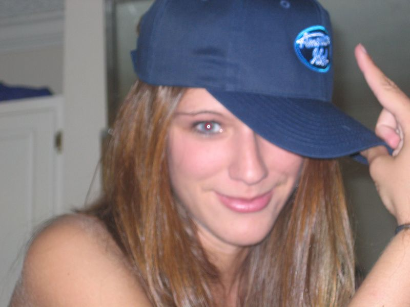 Shannon and her American Idol hat