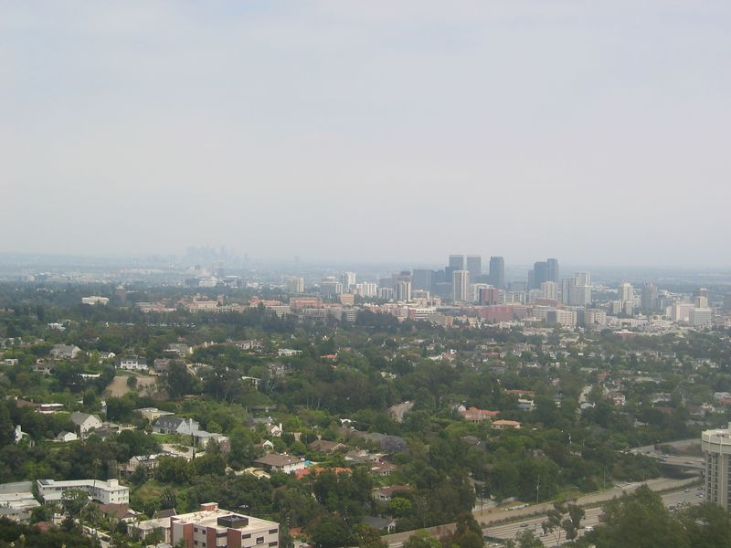 from the Getty Center