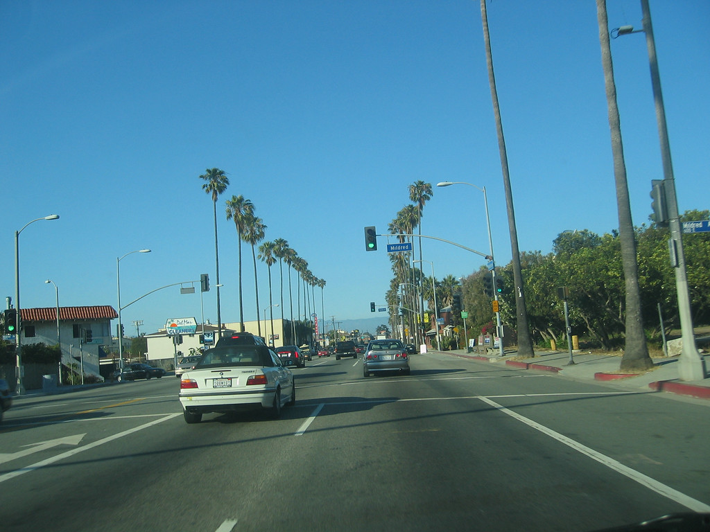 View driving around Marina Del Rey