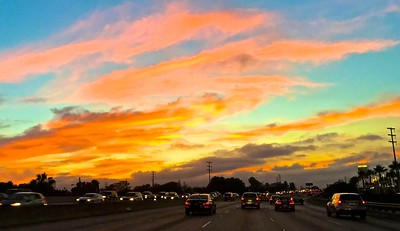 It was a beautiful sky as I headed to LAX for my red-eye flight.