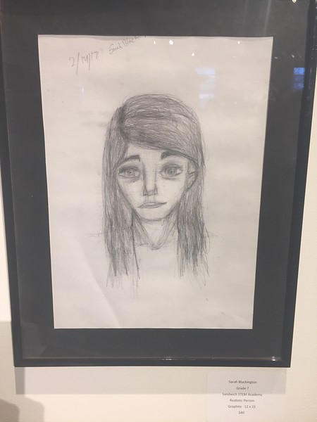 chosen art piece from Sarah's art teacher presented at Cape Cod Cultural Center 3/17