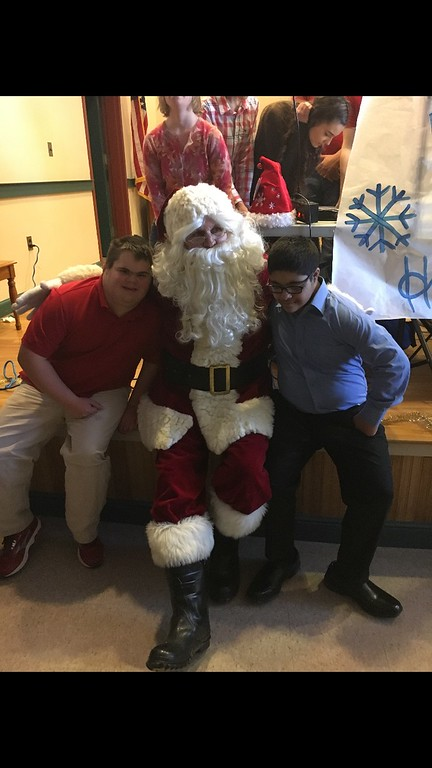Jacob and Saad at combined school holiday party 12/2016