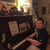 Jacob at Nana's piano 12/2016