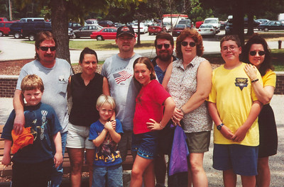 Jen, Kegan and the family, 2001