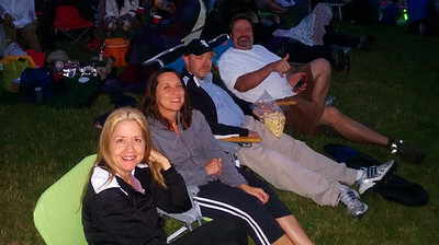 Catching a local band and the fireworks at Lake Boren on the 4th of July...