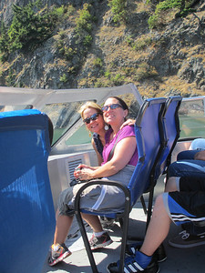 Jen and Jayne got front row seating on the boat!